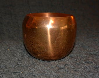 Copper Roly Poly Cup / Candle Holder