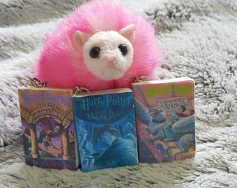 Harry Potter mini book keychains