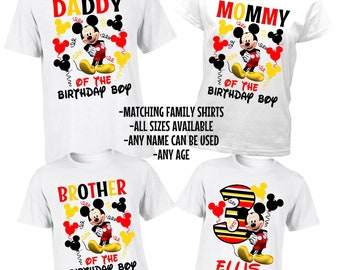 Mickey Mouse Family Shirts - Mickey Matching Birthday Shirts