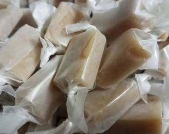 Homemade chewy caramels
