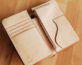 Bifold leather wallet pattern