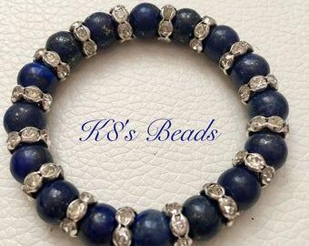 Lapis Lazuli Gemstone Beaded Bracelet