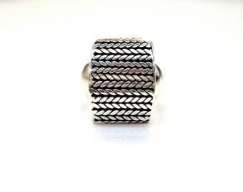 Sterling Silver Spiga Ring