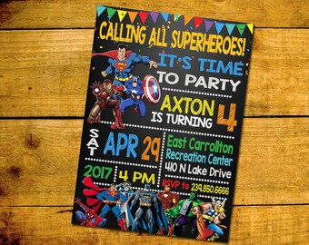 superheroes superhero birthday invitation superheroes superhero birthday party invitation superheroes superhero - Superhero Birthday Party Invitations
