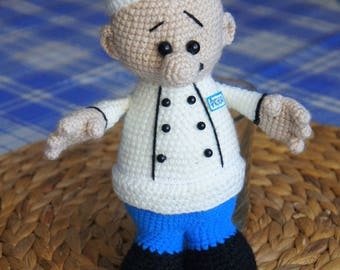The cook crochet. Chef
