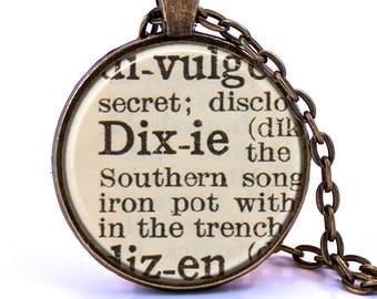 Dixie Dictionary Pendant Necklace