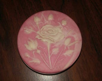 Pink Rose Trinket Box