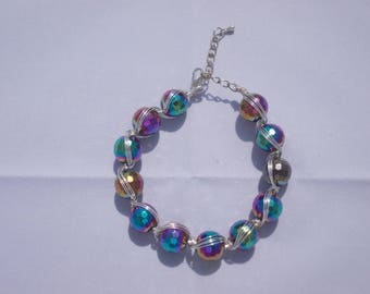 Metallic Rainbow Wire Bracelet