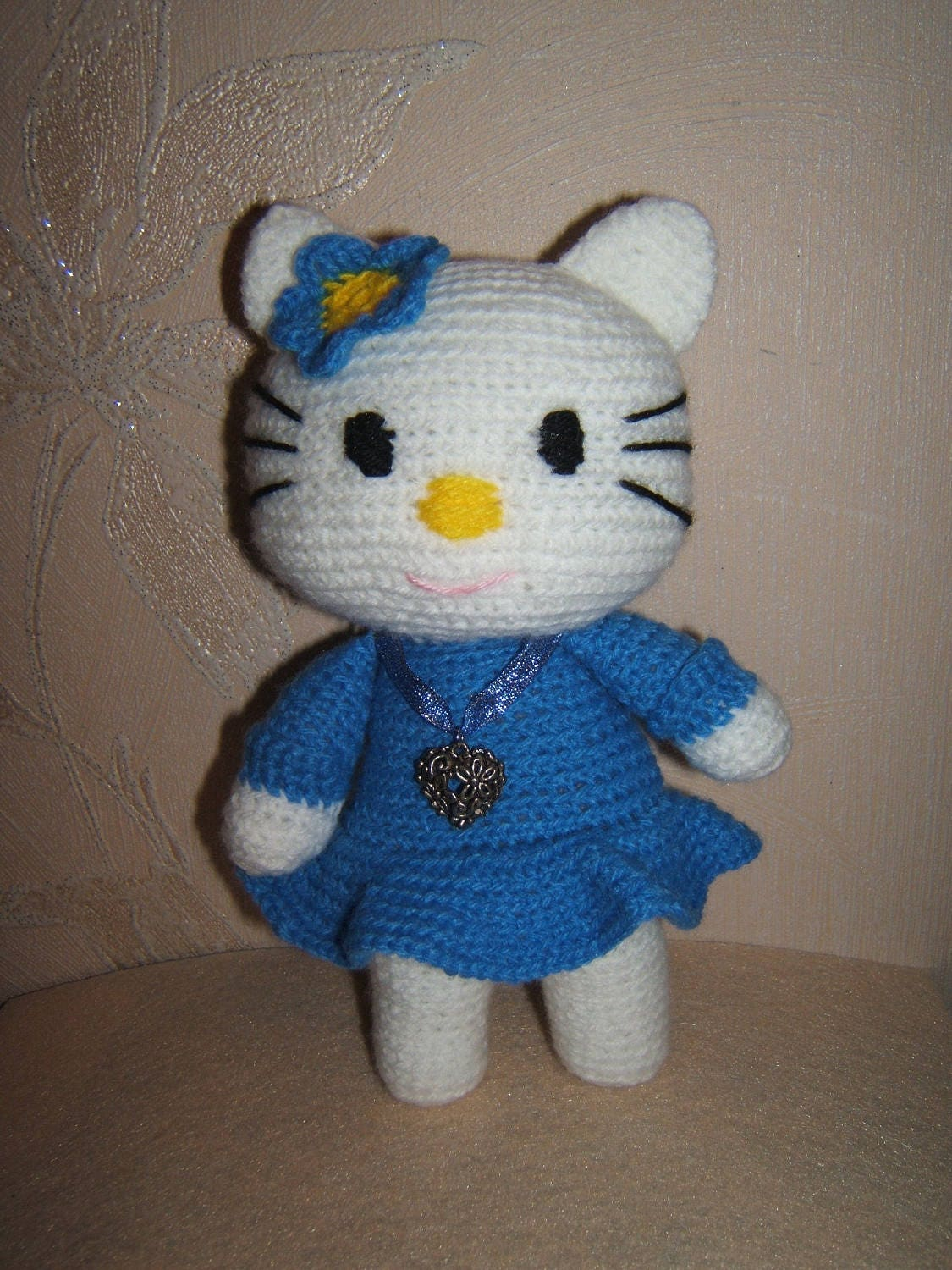 Hello Kitty a toy crocheted. Amigurumi Doll. Handmade. Gift