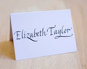 Place Cards Italic Calligraphy