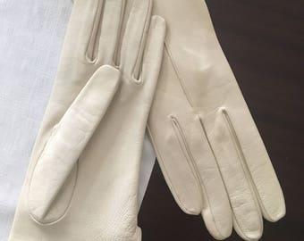 Leather gloves years 50 original vintage-Original 50 years vintage leather gloves