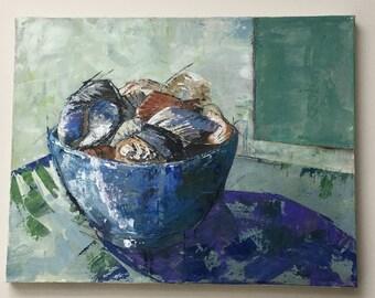 Original painting 'Bowl of shells'