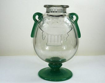 Schneider Glass Art Deco Vase