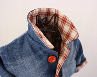 Jeans jacket, size 62