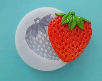 Flexible silicone mold glossy orange/Strawberry/Apple Pendant (random color)