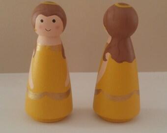 Princess wooden peg dolls