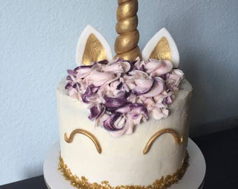 Unicorn horn, ears, and eyes Cake Topper