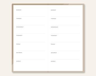 Weekly Planner / 1WO1P / Regular Notebook