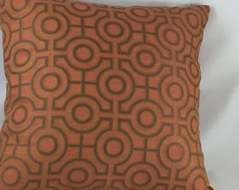 Designer cushion cover from European fabric, geometric design
