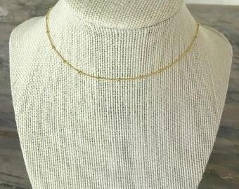 16k gold plated ball chain choker