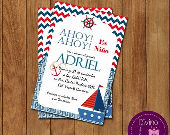 Invitation baby shower/welcome sailor