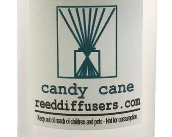 8 oz Candy Cane Fragrance Reed Diffuser Oil Refill - Made in the USA