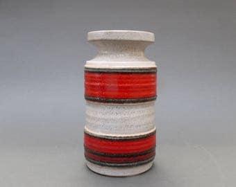 West German Ribbed Lava Vase 3078B