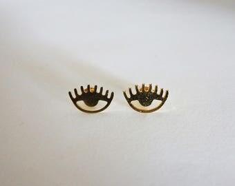 Earrings, Evil Eye - Evil Eye Earrings - Earrings - Minimalist Earrings - Minimalist Jewels