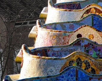 Photographic Cityscape, Park Guell in Barcelona, Fine Art Limited Edition Print