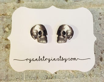 Skull Earrings - Stud Earrings - Skull Earrings - Skeleton Earrings - Halloween Earrings - Halloween Studs - Quirky Earrings