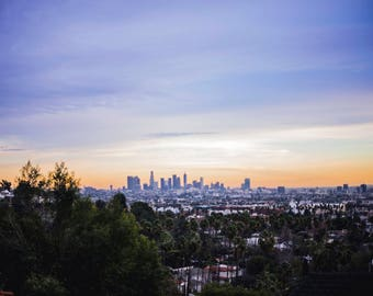 LA Skyline, Hollywood Hills, Beverly Hills, Los Angeles, California