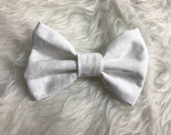 Small White Patriotic Bow