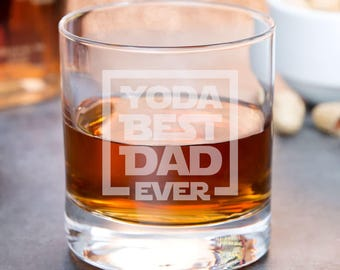 Father's Day Whiskey Glasses - Geek Fathers Day Gift For Dad  - Nerd Dad Gift Ideas - Nerd Dad Birthday Gifts - Geek Dad Birthday Gift