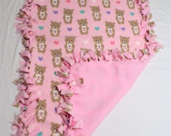 Teddy Bear Fleece Baby Blanket