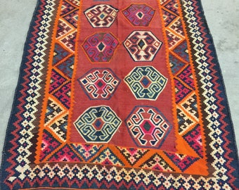 Wonderful Turkish Kazak Style Area Rug