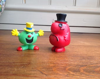 Vintage Mr Men plastic figures x 2 1978