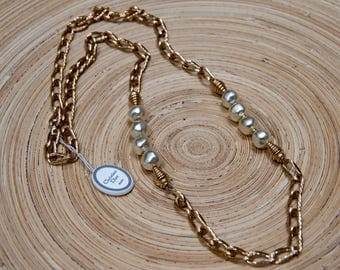 CHRISTIAN DIOR necklace with pearls necklace Couturier modernist France fashion