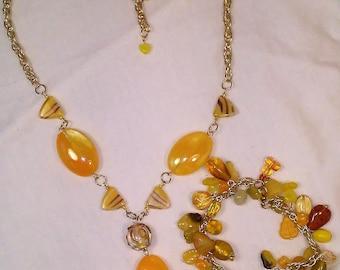 Sunshine necklace and bracelet set