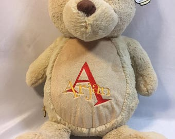 Personalised Baby Teddy Bear Gift,Embroidered Birthday/Christening Gift