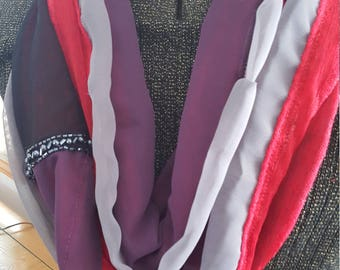 Red, purple, and grey Women's Infinity All Daywear Scarf
