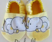Yellow Elephant Baby Shoes, Baby Shoes, Soft Sole Baby Girl/Boy Shoes, Infant Baby Shower Gift