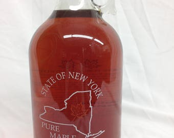 Pure NY Maple Syrup in NY State Bottle