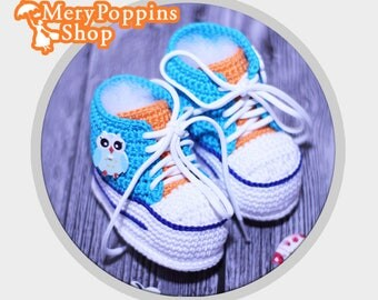 Baby Booties Crochet, Handmade Shoes 0 3 Girl Months, Newborn, crochet baby shoes,  baby shoes, crochet sneakers, baby sneakers