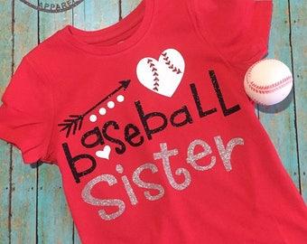 Baseball Sister Youth TShirt Tee Lil Sis Big Brother Big Sister Big Bro Season