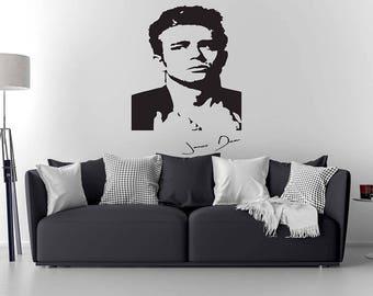 James Dean Wall Decal / James Dean Art / Home Decor / Wall sticker