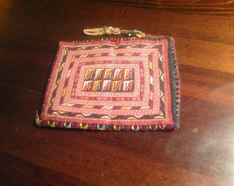 Central Asian Tribal Turkoman Embroidered  Small Pouch