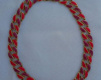 Vintage necklace, 1980s, brightly coloured and bold