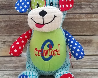Personalized Patchwork Dog Stuffed Animal