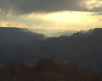 Grand Canyon at dusk, Landscape Photography, Fine Art Photography, Wall Art, Home Decor, Office Decor