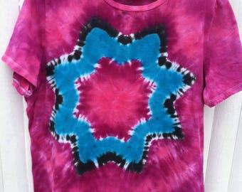 Tie Dye Women's XL V Neck T-shirt